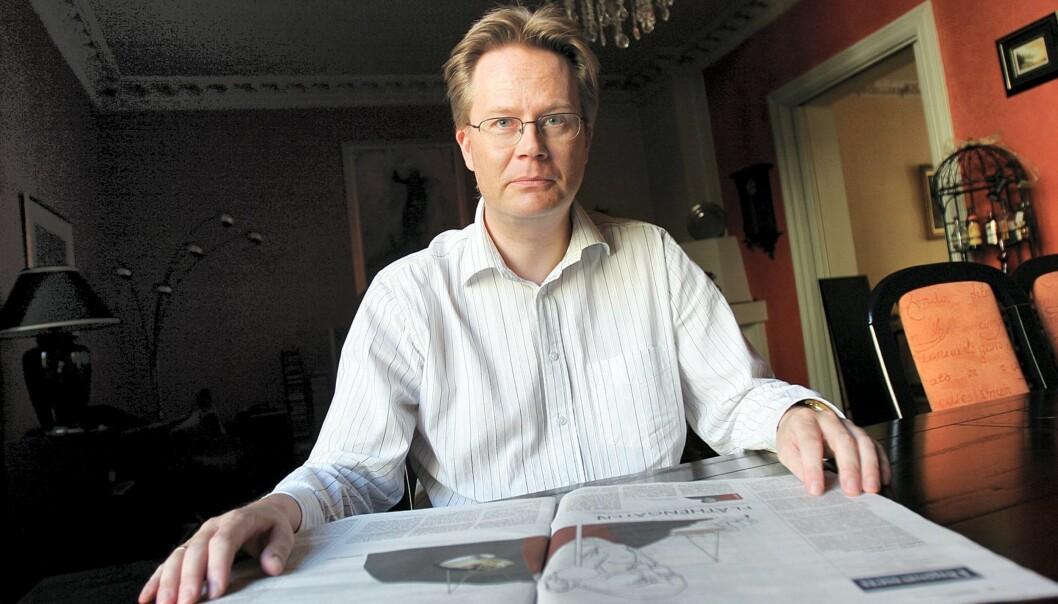 Minervas mediekritiker Jan Arild Snoen mener kreditering ikke hjelper Lars Hellberg. Foto: Birgit Dannenberg