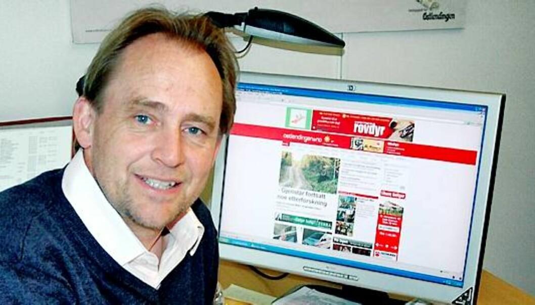 Morten Stenberg er ansvarlig redaktør i Østlendingen. Foto: Kristin Søgård