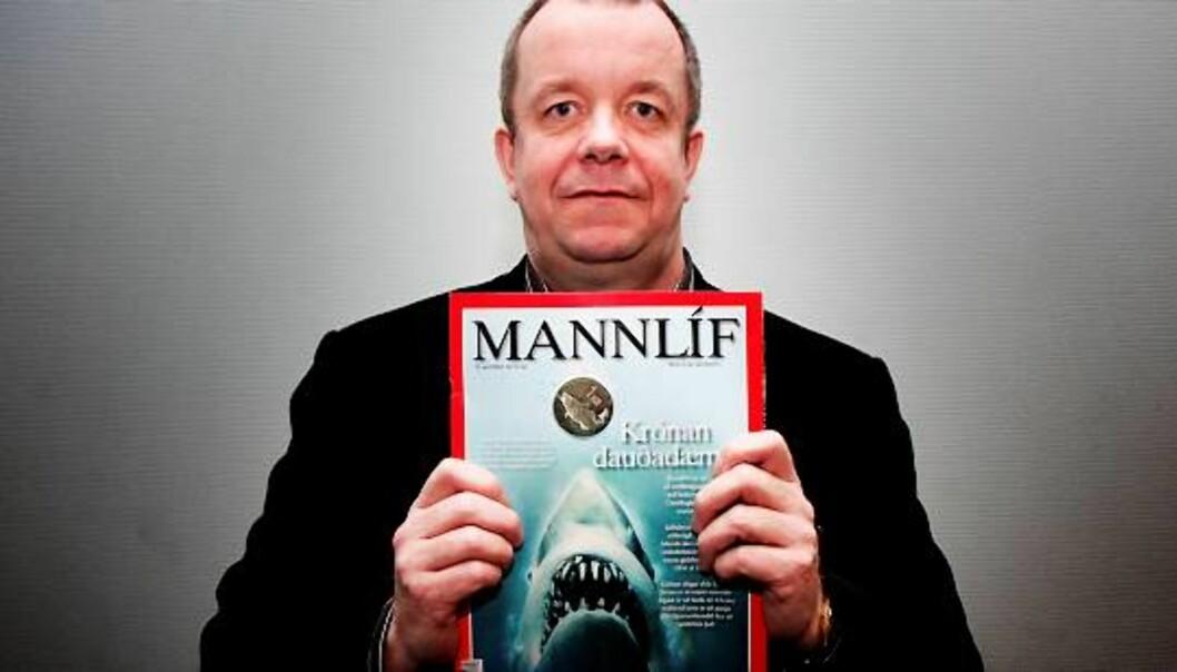 Sigurjón M. Egilsson skrev flere kritiske reportasjer i økonomibladet Mannlíf om Islands økonomi før finansbobla sprakk. Foto: Martin Lerberg Fossum