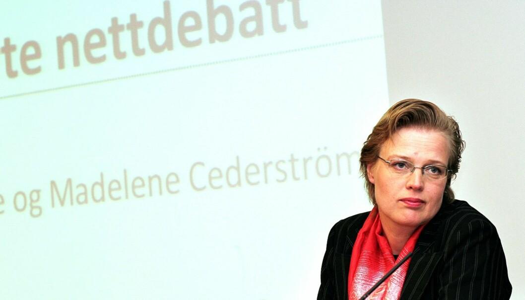 STERK KOST: Madeleine Cederströms kritikk av norsk asylpolitikk førte til at hun måtte slutte i P4, samtidig som nettdebatten var preget av trusler og kraftuttrykk. Foto: Birgit Dannenberg