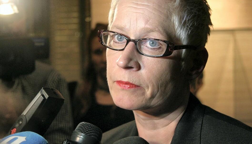 Anne Aasheim legger om Dagbladet på søndag. Foto: Kathrine Geard