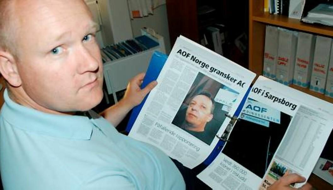 Lars Noreng gravde fram en skandale som førte til at den lokale AOF-avdelingen i Sarpsborg ble politianmeldt. Foto: Tor Viskum/Sarpsborg Arbeiderblad