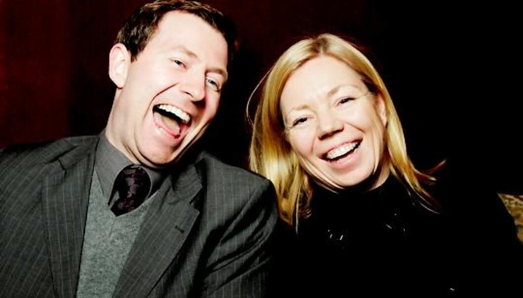 KONKURRENTER: Avisene deres sliter med opplag og økonomi, men Trine Eilertsen og Anders Nyland lover fullt trykk i konkurransen om publikum. Foto: Paul S. Amundsen