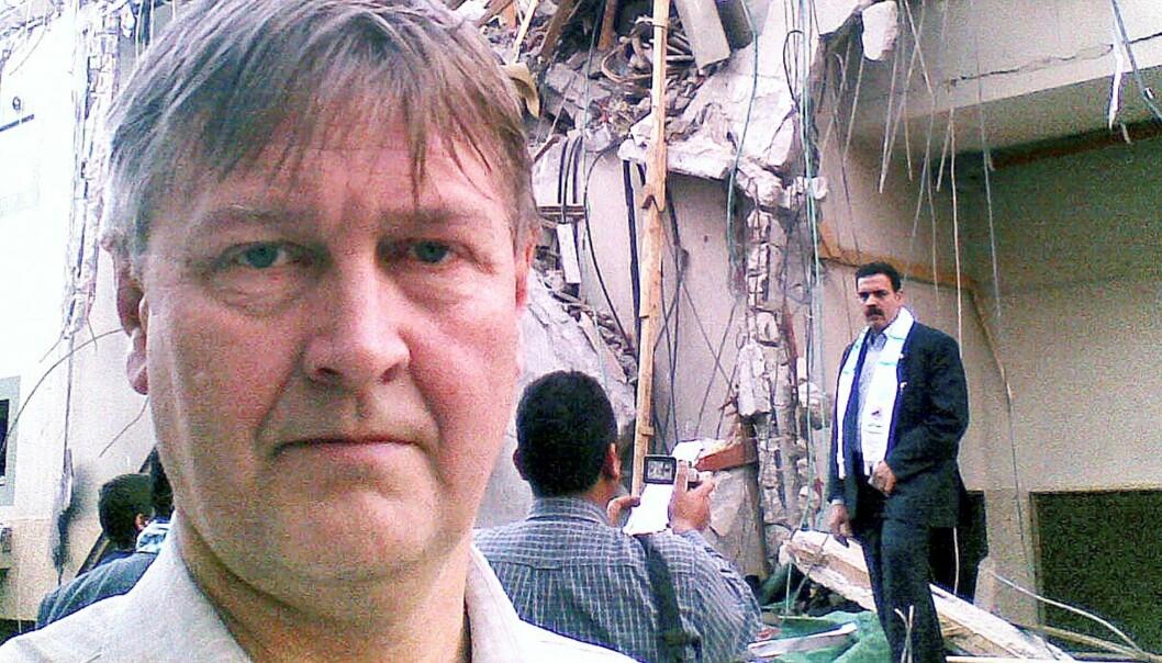 Kjetil Haanes på et besøk i Palestina tidligere i år.