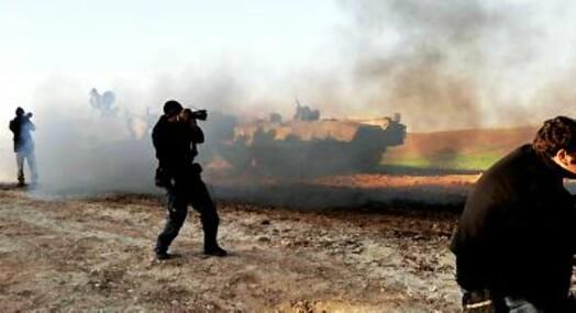 Krevende for palestinske reportere på Gaza-stripen
