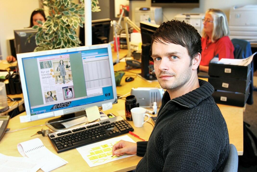 Erik Inderhaug, her fra tiden som journalist i Akershus Amtstidende, er ny redaktør i Politiforum. Foto: Privat