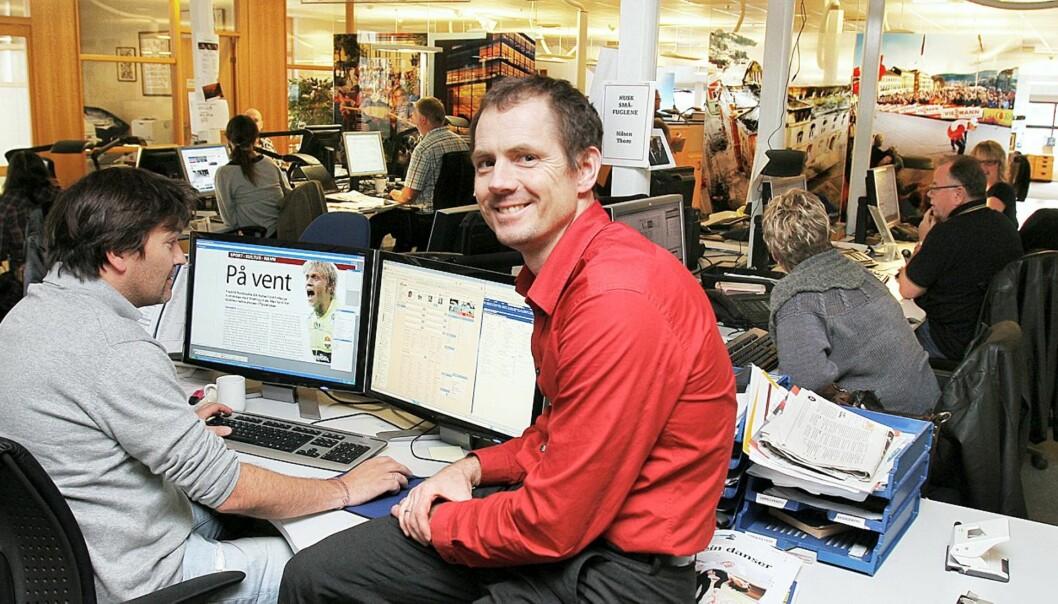 Geir Arne Bore er redaktør i Drammens Tidende. Foto: Kathrine Geard