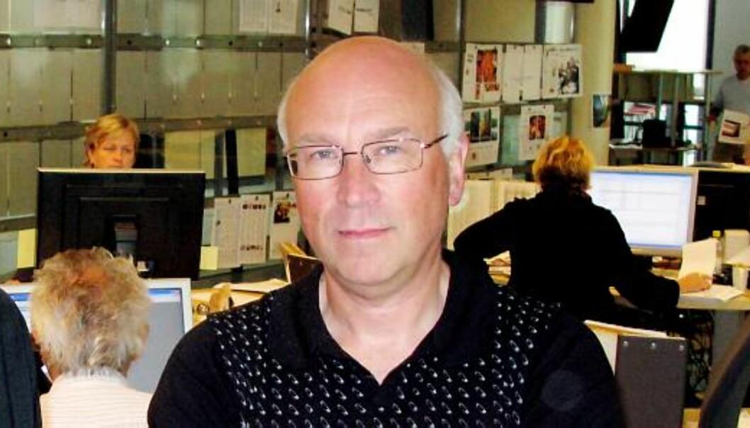 Leder av redaksjonsklubben i Sunnmørsposten, Johan Behrentz. Foto: Martin Huseby Jensen