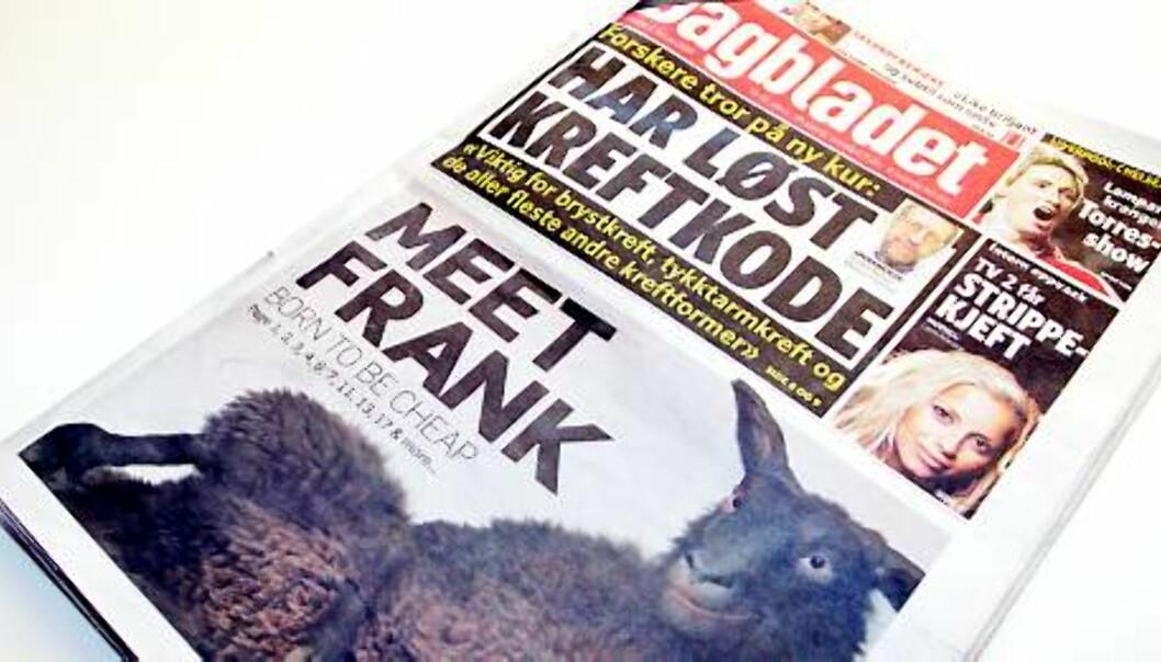 Faksimile av dagens Dagbladet, 2. februar 2009.