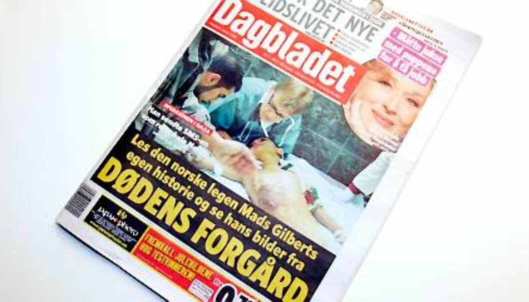 Faksimile Dagbladet 5. januar 2009.