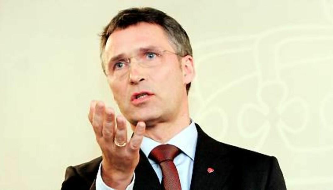 Statsminister Jens Stoltenberg. Foto: Birgit Dannenberg