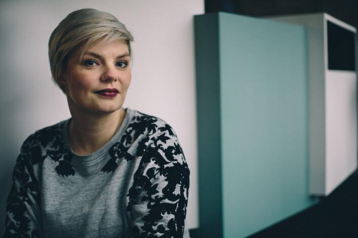 Leder i Skup, Silje Skiphamn, mener det er viktig for kvinnelige journalister å ha gode forbilder. Foto: Marte Vike Arnesen