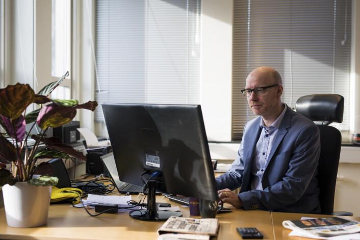 Kjell Rune Henriksen er sjefredaktør i Harstad Tidende. Foto: Kristine Lindebø