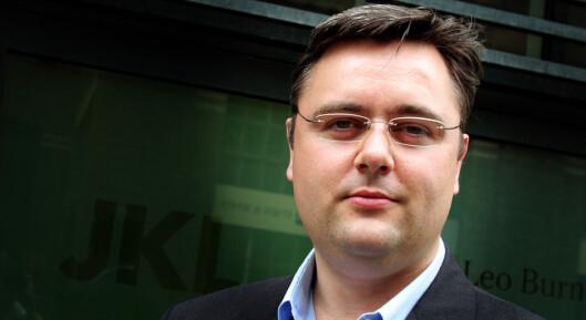 Kjetil Stormark avviser at<br>han driver kampanje-<br>journalistikk.