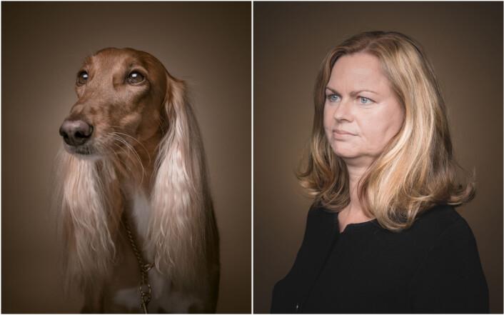 Ofte var kanskje ikke likheten opplagt, men med riktig positur og blikk ble hund og eier like. Foto: Krister Sørbø