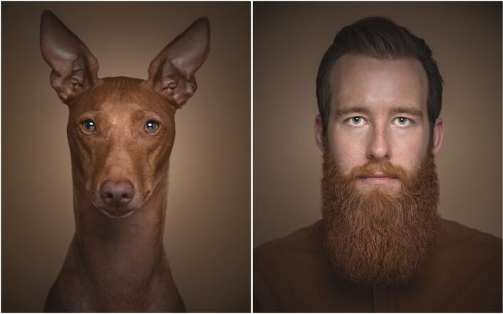 Fotograf Krister Sørbø og hunden Enzo. Foto: Krister Sørbø