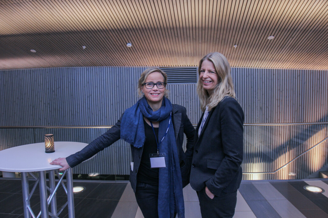 Lajla Ellingsen og Mari K. By Rise i Adresseavisen. Arkivfoto.