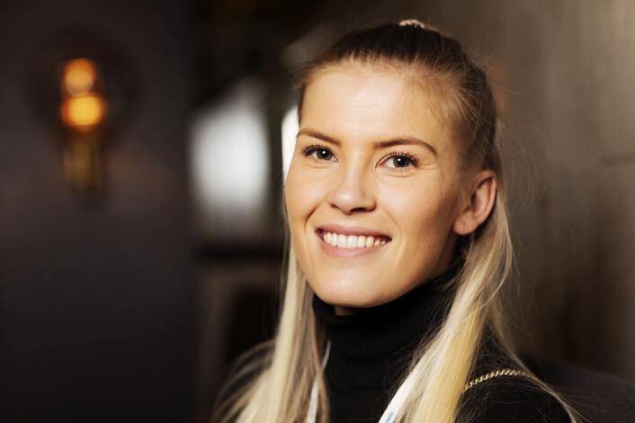Line Pevik, prosjektleder Adresseavisen/Trd.by på Hellkonferansen. Foto: Andrea Gjestvang