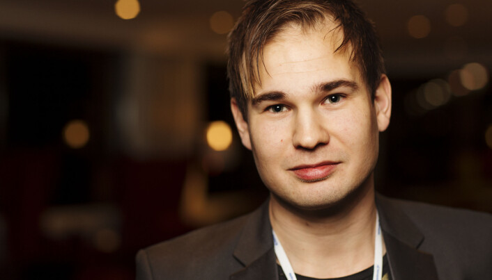 Alexander Killingberg, redaktør i Fosnafolket på Hellkonferansen 2018. Foto: Andrea Gjestvang