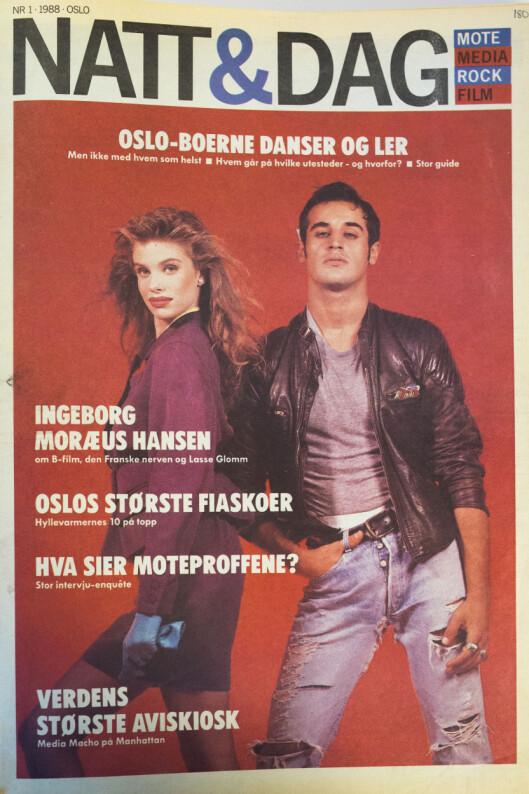 Første utgave av Natt&amp;Dag, september 1998.<br>Se flere forsider i bildekarusellen nederst i saken.