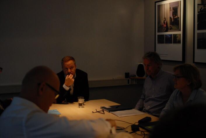 Resett-redaktør Helge Lurås da han gjestet Presseforbundets styre i fjor. Foto: Martin Huseby Jensen