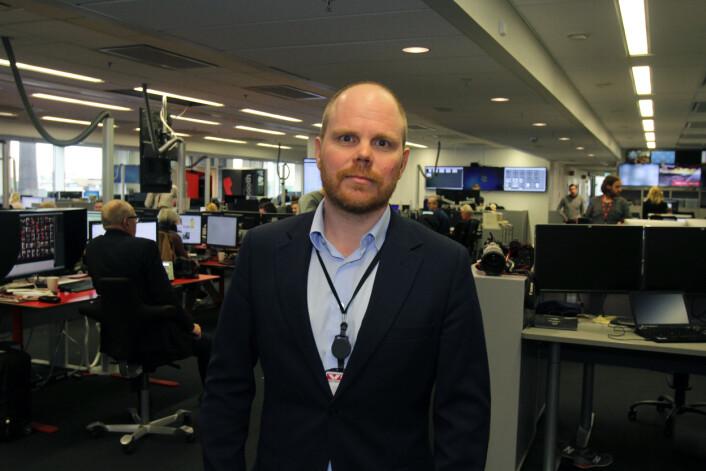 Sjefredaktør Gard Steiro i VG-redaksjonen. Foto: Glenn Slydal Johansen
