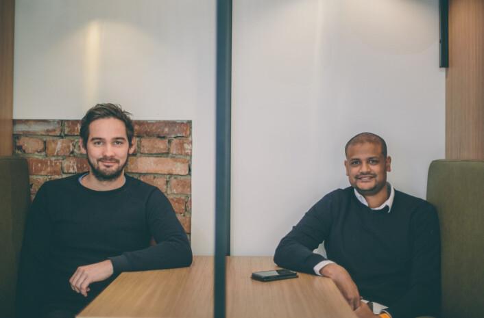 Per-Ivar nikolaisen og Lucas Weldeghebriel startet Shifter i 2016. Foto: Marte Vike Arnesen
