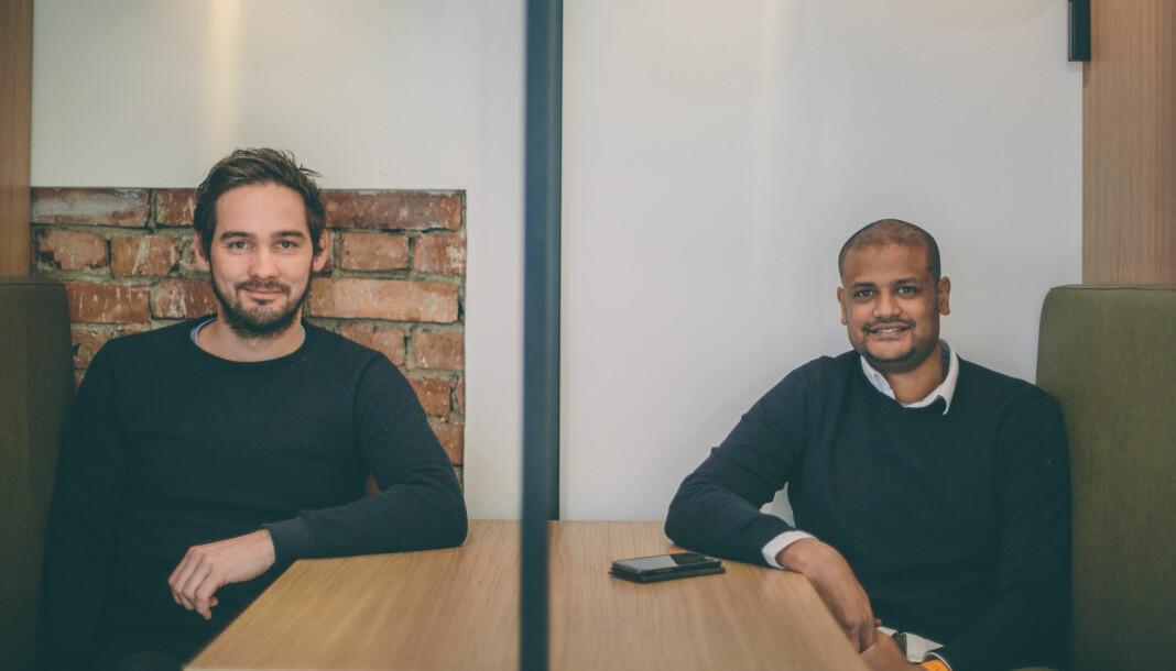 Per-Ivar Nikolaisen og Lucas Weldeghebriel startet Shifter i 2016. Arkivfoto: Marte Vike Arnesen