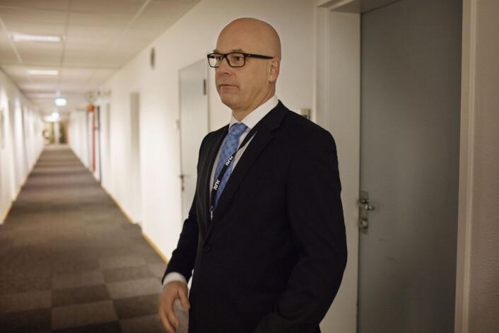 Thor Gjermund Eriksen vil ikke svare på spørsmål rundt undersøkelsen om seksuell trakassering i NRK. Foto: Andrea Gjestvang