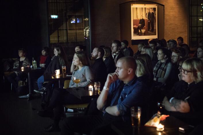 Konsentrasjon i salen under Trondheim Dokumentarfestival. Foto: Andrea Gjestvang