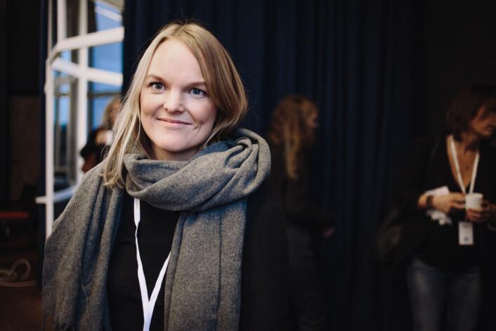 Årets talent Jorun Berntsen under Medienettverkets konferanse. Foto: Marte Vike Arnesen