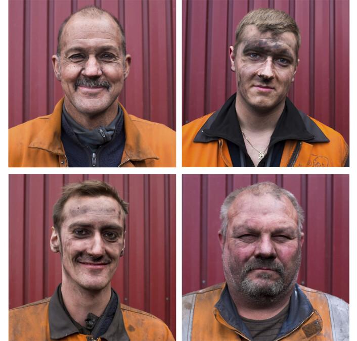 Arbeidere Gruve 7, den eneste gruven som er i vanlig drift. Nygaard er tidligere student av Rosenkvist, og nå jobber han i Svalbardposten. Foto:John Christian Nygaard