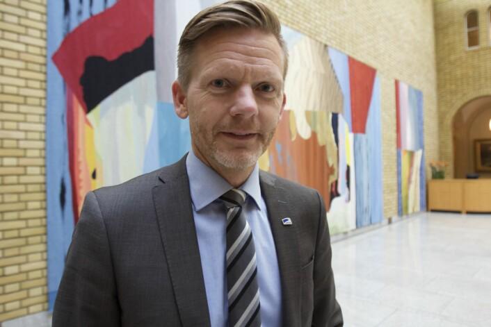 Høyres mediepolitiske talsperson Tage Pettersen i Stortinget. Foto: Glenn Slydal Johansen