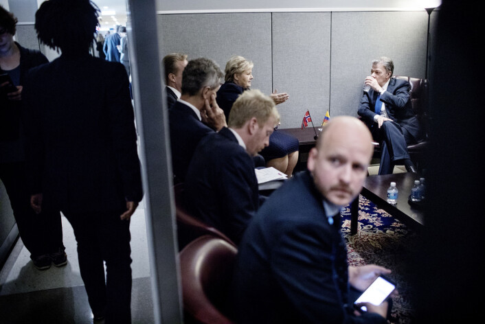 – Man forventer kanskje mer eksklusive møterom i FN, men her var det mer IKEA-stil, forteller Bast. Foto:Ida von Hanno Bast, Dagens Næringsliv
