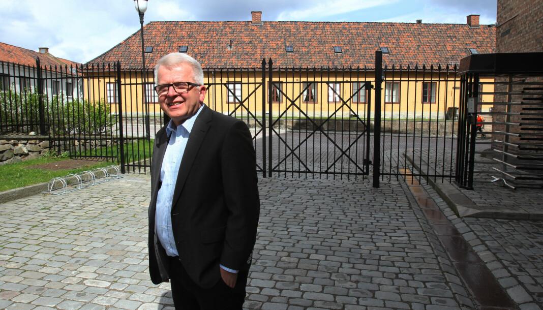 Hvem skal ta over etter denne mannen? Ansvarlig redaktør Tor Eigil Stordahl i Forsvarets forum går nå av med pensjon.