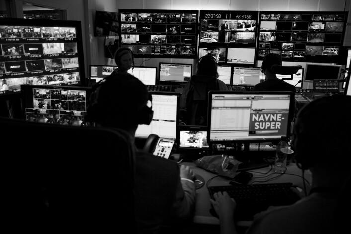 I regien i TV2 koordineres live sendinger fra alle valgvakene.