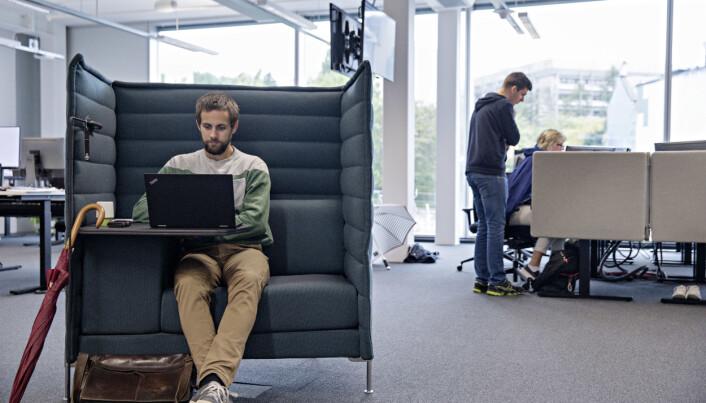 Lokalene har egne støydempende sofagrupper Foto: Tor Høvik/Bergens Tidende