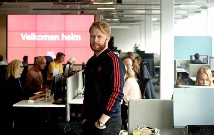 Klubbleder Christian Nicolaisen i Bergens Tidende. Foto: Eirik Brekke/Bergens Tidende