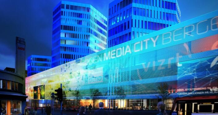 Slik ble Media City Bergen presentert da valget om Lars Hilles gate ble offentliggjort.