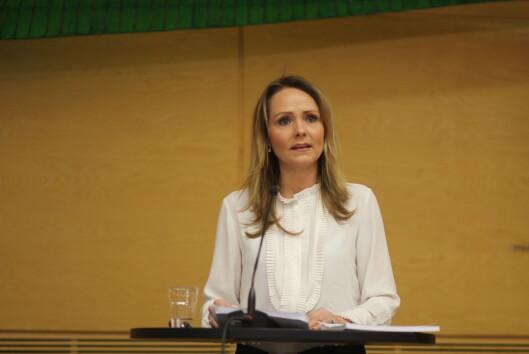 Utredningen av ny medieansvarslov ligger til kulturminister<br>Linda Hofstad Helleland. Foto: Angelica Hagen