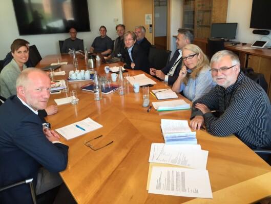Medieorganisasjonene møtte statssekretær Paul<br>Chaffey i forrige uke. Foto: Kristine Foss