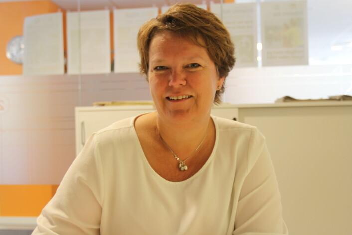 Klubbleder Karin Hanstensen i Østlandets Blad. Foto: Glenn Slydal Johansen