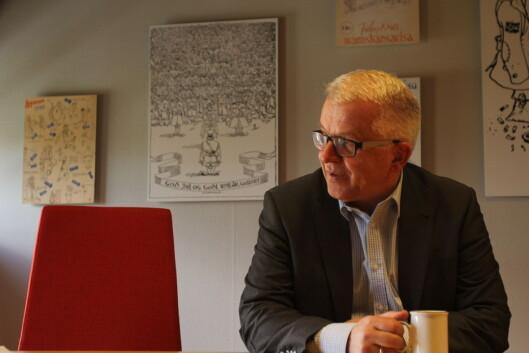 Ansvarlig redaktør Tor Eigil Stordahl i<br>Forsvarets forum. Foto: Martin Huseby Jensen