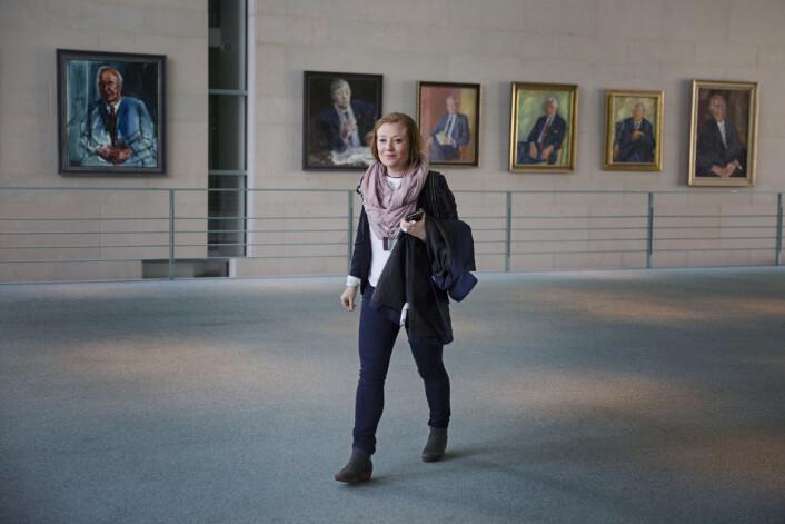GuriNorstrømjobber ofte alene og må ta mange avgjørelser selv. Men hun synes ikke jobben er ensom.Foto: Andrea Gjestvang