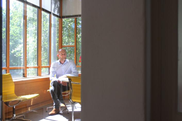 Knut Olav Åmås tror at fremtidens journalistikk kommer til å bli et andre mer avansert spleiselag.<br>Foto: Martin Huseby Jensen