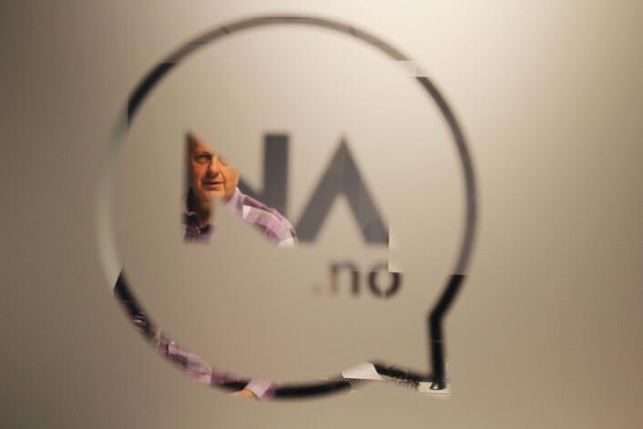 Nettavisens mangeårige sjefredaktør Gunnar Stavrum har mottatt penger til prosjekter i mediehuset fra både Googles DNI og fra Fritt Ord. Han mener ordningene bidrar til prosjekter det ikke ville blitt noe av uten den eksterne finanseringen. Foto: Martin Huseby Jensen