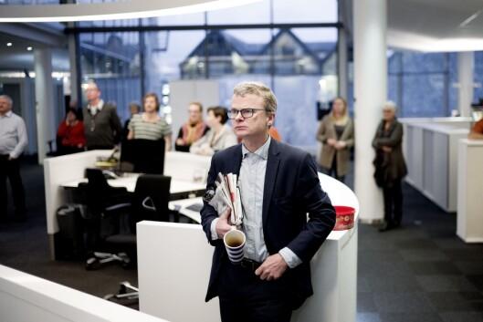 Sjefredaktør Lars Helle i Stavanger Aftenblad er<br>skeptisk til ekstern finansiering. Foto: Jan Inge Haga