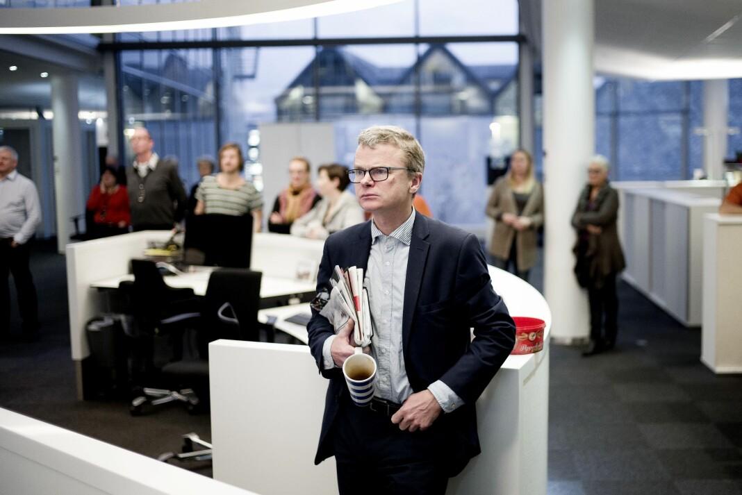 Lars Helle, sjefredaktør i Stavanger Aftenblad, mener venstrevridningen i journalistikken er en myte som får ufortjent mye oppmerksomhet. Foto: Stavanger Aftenblad