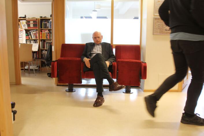 Bjørgulv Braanen i Klassekampen er skeptisk til ekstern finanisering av journalistikken. Han mener det handler om fast inntekstsstrøm. Foto: Martin Huseby Jensen
