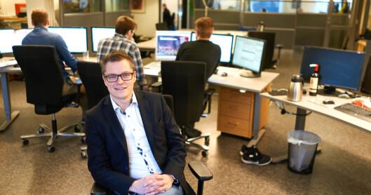 Christian Senning Andersen i Fremover har opplevd god utvikling etter<br>at mediehuset droppet papiravis to dager. Foto: Kristoffer Klem Bergersen